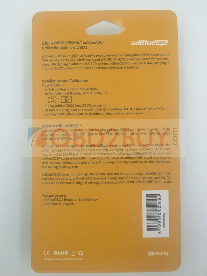 adBlueOBD2 adBlue/DEF and NOx Emulator via OBD2