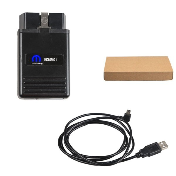 wiTECH MicroPod 2 Diagnostic Tool with HDD v17.04.27 For Fiat Dodge Jeep Chrysler Support Multi-Languages